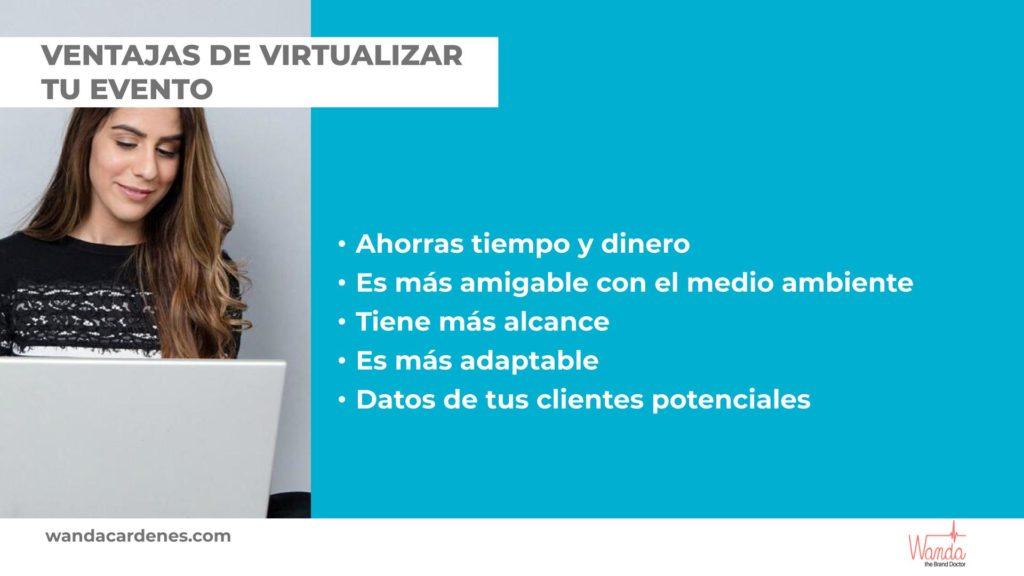 ventajas eventos virtuales