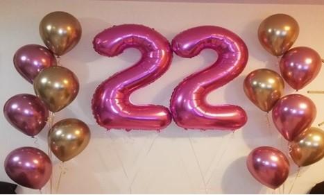 globos numéricos metálicos